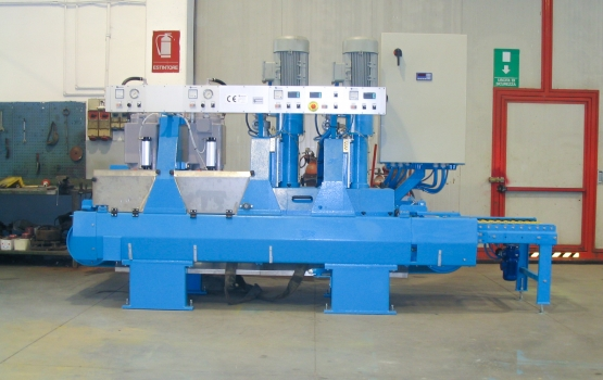 CAL 260+2 - CALIBRATING-POLISHING MACHINE FOR MARBLE with 2 calibrating spindle and 2 polishing spindles